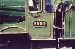Solihull Model Railway Circle - Hall class No. 6960 'Ravenington Hall' at Toddington on the Gloucester and Warwickshire Railway, 1st September 2002