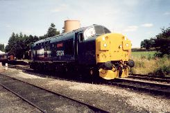 Solihull Model Railway Circle - Class 37 37324 'Clydebridge' in rail blue livery at Toddington on the Gloucester and Warwickshire Railway, 1st September 2002